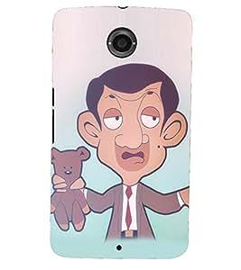PRINTSHOPPII MR.BEAN Back Case Cover for Motorola Google Nexus 6::Google Nexus 6