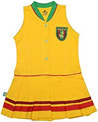 Absorba Baby Girls' Dress ( Yellow_4-5 Years ,60012)