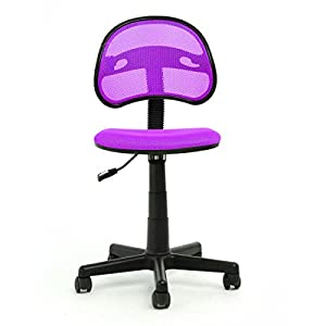 Vecelo Office Task Swivel Chair With Fabric Seat Base Without Ar