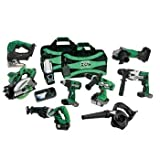 Hitachi KC18DX9L 18-Volt Lithium-Ion 9-Tool Combo Kit