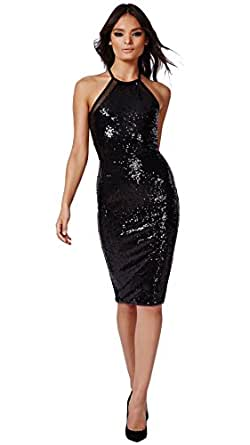 Elegant Color Fuel Women Georgette Black Dress Amazonin Clothing