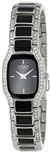 Citizen Women's EW9780-57E Eco-Drive Normandie Black Resin Watch