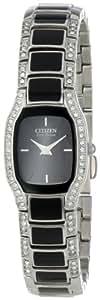 Citizen Women's EW9780-57E Eco-Drive Normandie Black Resin Watch