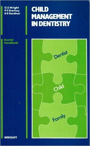 Child Management in Dentistry (Dental Practitioner Handbook)