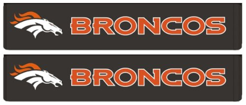 Nfl Denver Broncos Car Shoulder Belt Seat Pad - Pair