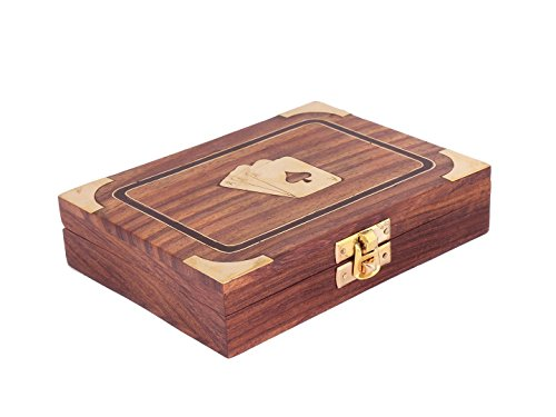 Diwali-Gifts-Classic-Wooden-Bicycle-Playing-Cards-Holder-Double-Deck-Case-Storage-Box-with-Brass-Ace-Design-Family-Card-Game-Poker-Table-Accessories
