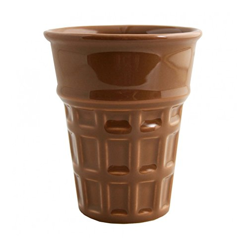 Fishs Eddy Ceramic Ice Cream Cone Cup / Bowl (1, Chocolate)