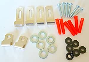 Share facebook twitter pinterest 4 25 free uk delivery for Mirror hanging kit
