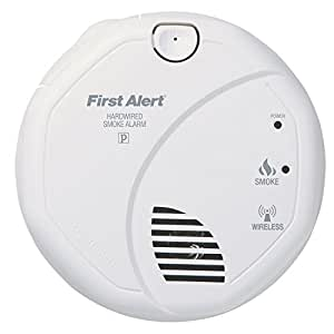 first alert sa521cn interconnected hardwire wireless smoke alarm with battery. Black Bedroom Furniture Sets. Home Design Ideas