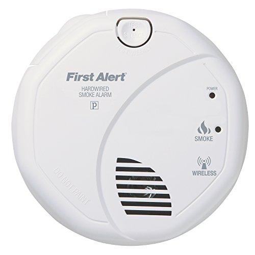 wireless interconnect hardwired smoke alarm first alert sa521cn interconnected b ebay. Black Bedroom Furniture Sets. Home Design Ideas