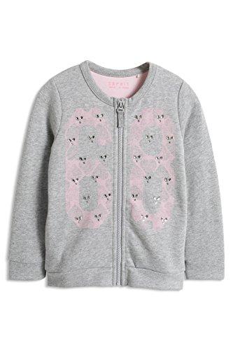 ESPRIT Mädchen Sweatshirt 085EE7J005, Gr. 116 (Herstellergröße: 116/122), Grau (MEDIUM GREY 035)