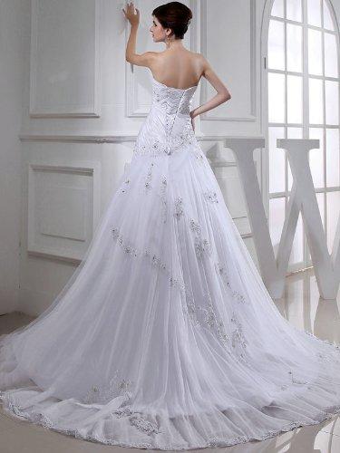 Vilavi women s over hip tulle sweetheart beading wedding for Wedding dresses for big hips