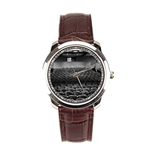 Dr. Koo Brown Mens Watches Leather Strap White Mens Watches Leather