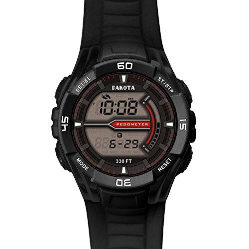 Dakota Watch Company Pedometer Watch, Black (Dakota Stainless Steel Watch compare prices)