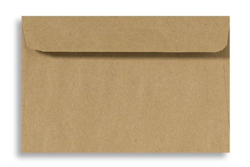 6 x 9 Booklet Envelopes - 100% Recycled - Grocery Bag Brown (50 Qty.)