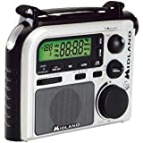 MIDLAND ER102 7-CHANNEL EMERGENCY CRANK RADIO WITH AM/FM/WEATHER ALERT (BLACK & WHITE)