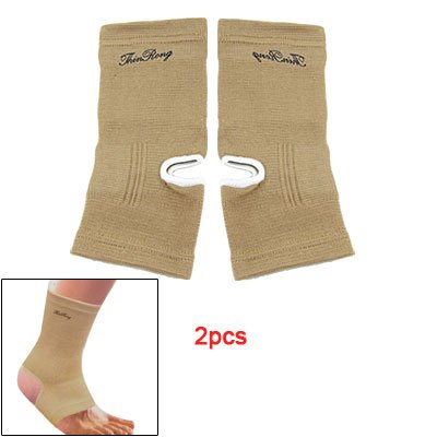 Light Brown Ankle Foot Protector Knit Sports Support