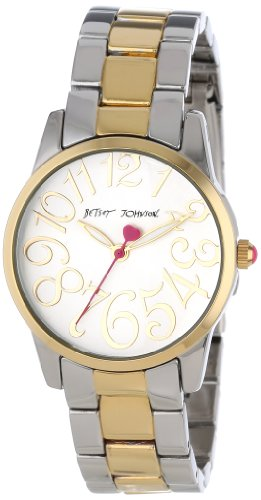Betsey Johnson Women's BJ00238-01 Analog Two-Toned Case and Bracelet Watch