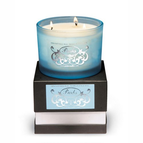 Turquoise Elegance - Camomile, Jasmine, Frangipani, Rose, Freesia and Lily Gift-Boxed - Parks Candles
