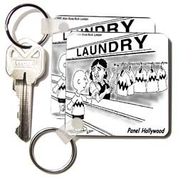 Londons Times Funny Society Cartoons - Charlie Brown Picks Up Dry Cleaning - Key Chains