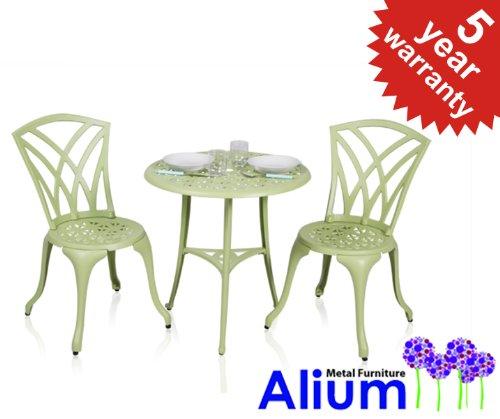 Best Deal Alium Harrison Cast Aluminium 2 Seater Garden Bistro Set