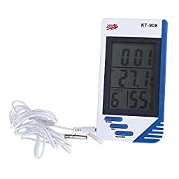 Huayuan® 3 in 1 Digital Temperature Humidity Meter Tester Clock Humidity Hygrometer Thermometer