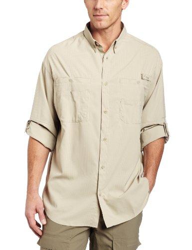 Columbia Men's Tamiami II Long Sleeve Shirt,Fossil,Large