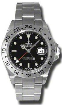 Rolex Explorer II 16570 Mens Steel White Dial Watch