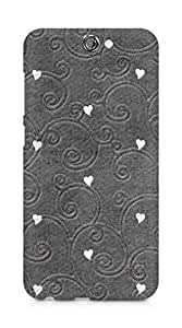 Amez designer printed 3d premium high quality back case cover for HTC One A9 (hearts embroiderry)
