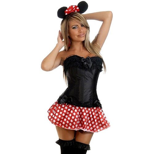 DAISY CORSETS DAISY-1560 3 PC Sexy Miss Mouse Costume
