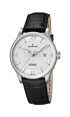 Candino c4494-2 - Reloj para caballero de cuero Resistente al agua plateado