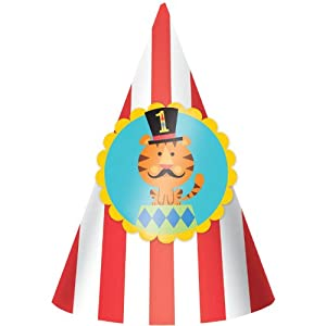 Fisher Price Circus 1st Birthday Party Cone Hats 8 Pack by Amscan