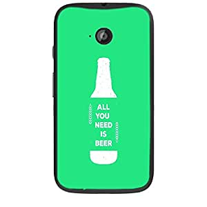 Skin4gadgets Awesome Wine & Dine Quotes, Pattern 57, Color - Orange Phone Skin for MOTO E2