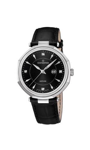 Candino C4524/4 - Reloj analógico de cuarzo para mujer, correa de cuero color negro