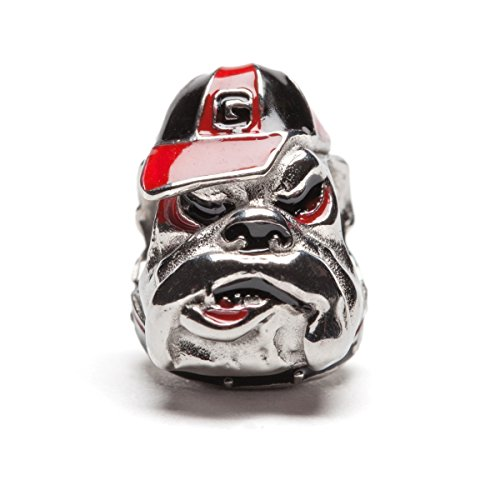 University of Georgia Mascot UGA Bulldog Bead Charm - Fits Pandora & Others