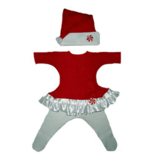 Red Peppermint Christmas Baby Dress (Newborn 0-3 Months To 12 Pounds)
