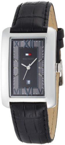 Tommy Hilfiger Men's 1710260 Classic Stainless Steel and Black Tank Watch