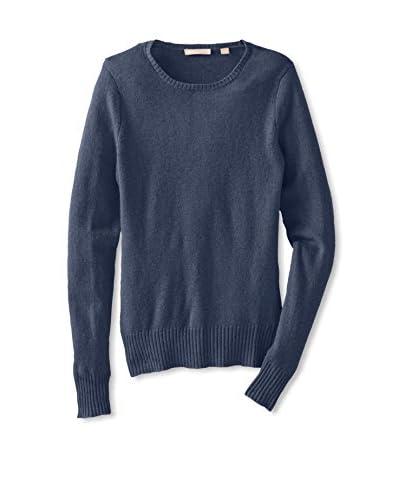 Cashmere Addiction Women's Crew Neck Cashmere Sweater