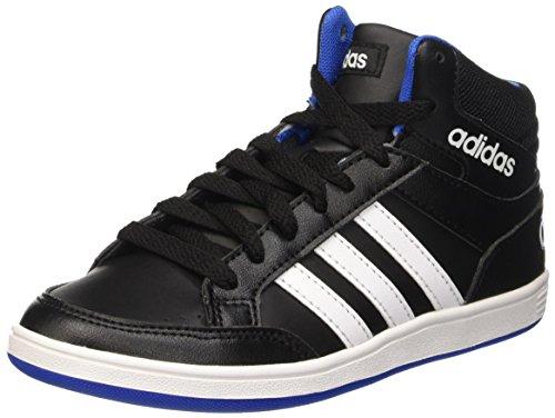 Adidas Hoops Mid K Scarpe da basketball, Bambini e ragazzi, Multicolore (Cblack/Ftwwht/Blue), 36 2/3