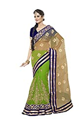 Green Net And Georgette Lehenga Choli