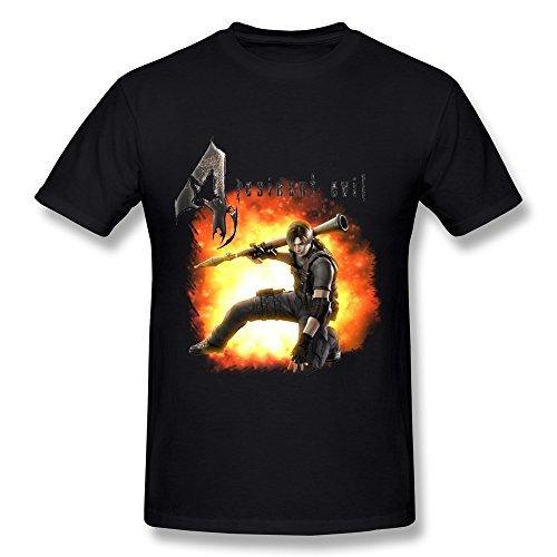 SchrittGlucklich Men's Resident Evil 4 Leon T-shirt (X-Large)