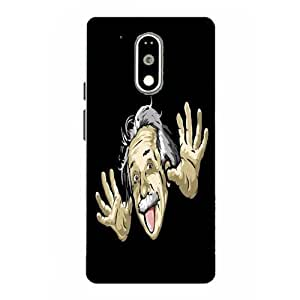 Moto G4 Play Funny Printed Black Hard Back Cover By Snazzy
