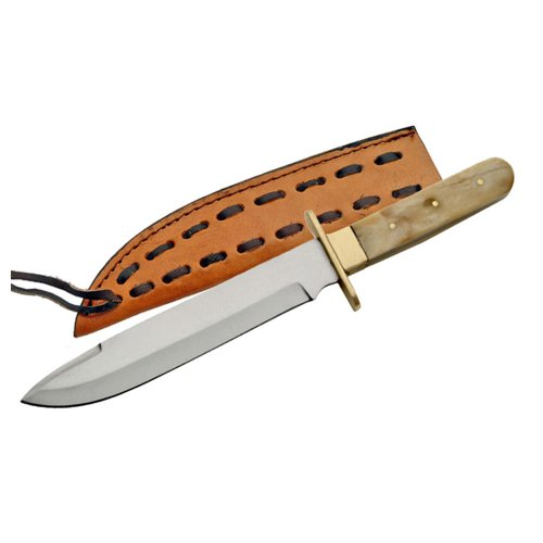Trademark Missouri Brass Handle Bowie Knife - 11 Inches Knives, Brown