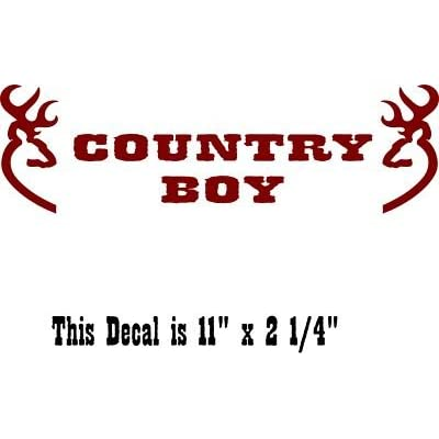 Amazon.com : Country Boy Windshield Banner 2 Bucks Hunting ...