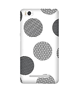 Black Dashed Dots Xiaomi Mi 4i Printed Back Cover