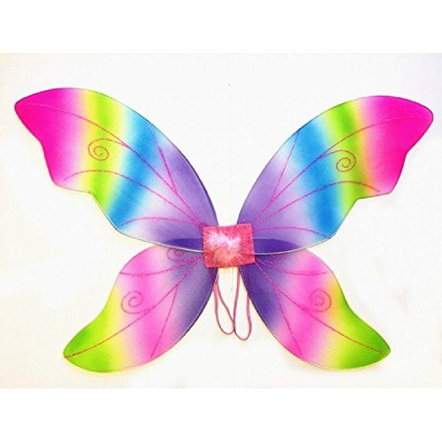 Large Green Wild Fairy Wings (34 in) (Rainbow)