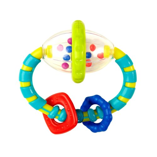 Bright Starts Grab and Spin Rattle - Blue - 1