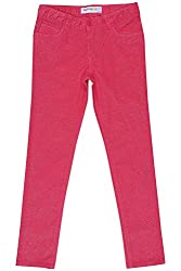 Poppers by Pantaloons Girl's Regular Fit Trouser(205000005621888, Pink, 9-10 Years)
