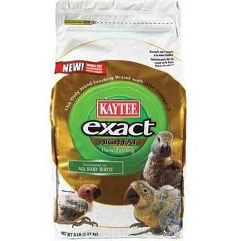 Image of KAYTEE EXACT HIGH FAT HAND FEEDING BABY BIRD FOOD 5 LB BAG (B0086I7OIO)