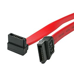 StarTech 18in SATA to Right Angle SATA Serial ATA Cable (SATA18RA1)